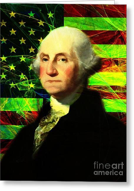 President George Washington V2 P50 Greeting Card