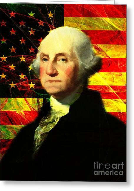 President George Washington V2 Greeting Card