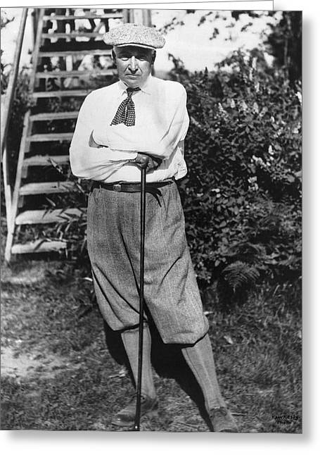 President Harding Playing Golf Greeting Card by Underwood Archives