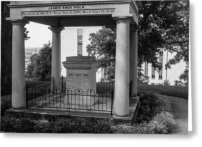 Greeting Card featuring the photograph President James K Polk Tomb by Robert Hebert