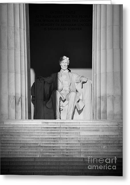 President Lincoln Greeting Card by Inge Johnsson