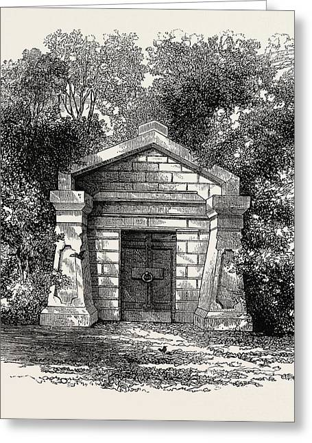 President Lincolns Grave, United States Of America Greeting Card by American School