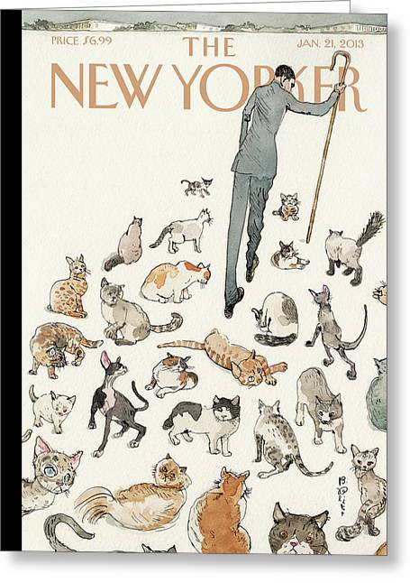 President Obama Attempts To Herd Cats Greeting Card by Barry Blitt
