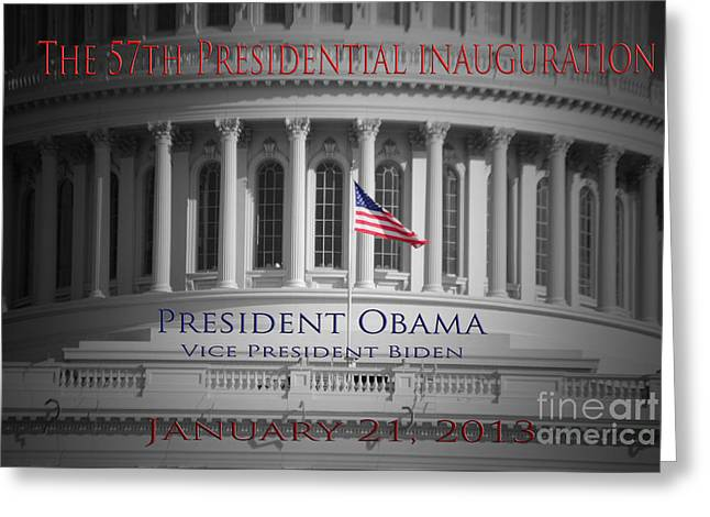 President Obama Inauguration Greeting Card by Jost Houk