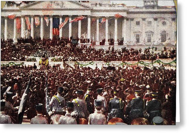 President Roosevelts Inauguration Address Greeting Card by Litz Collection