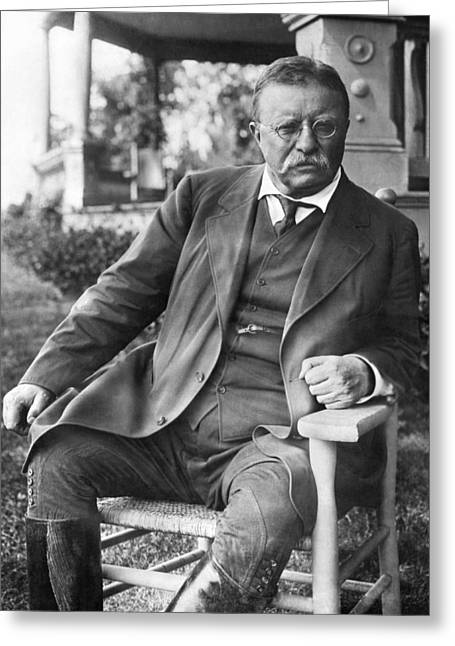 President Theodore Roosevelt Greeting Card by Underwood Archives