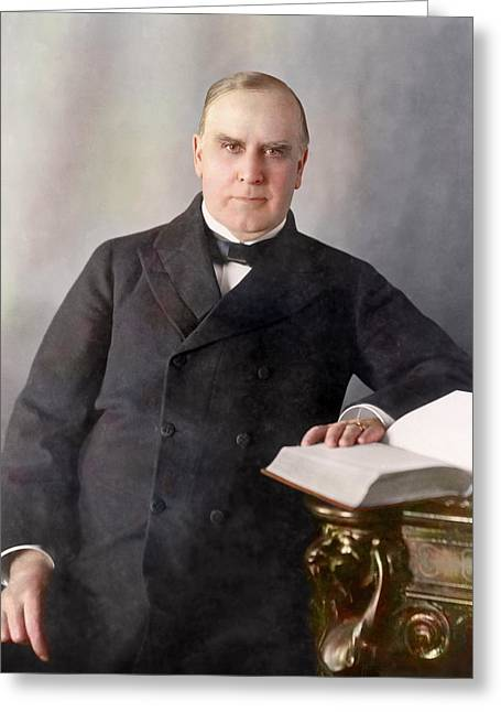 President William Mckinley Seated Greeting Card