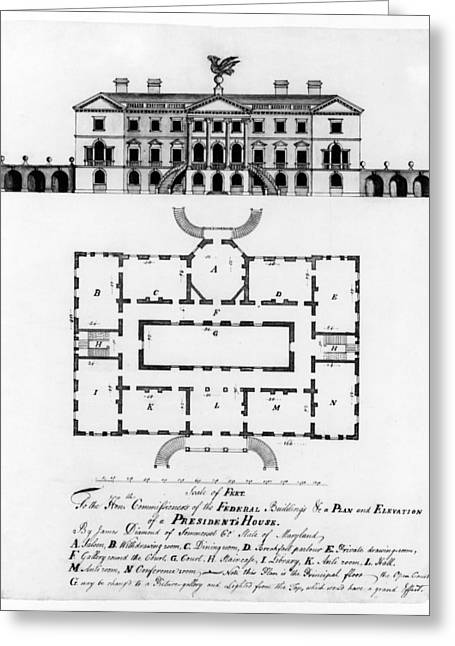 Presidents House, C1792 Greeting Card