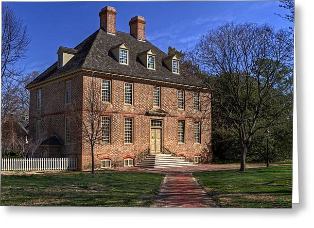 Greeting Card featuring the photograph President's House College Of William And Mary by Jerry Gammon