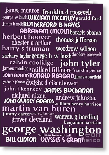 Presidents Of The United States 20130625bwmag Greeting Card by Wingsdomain Art and Photography