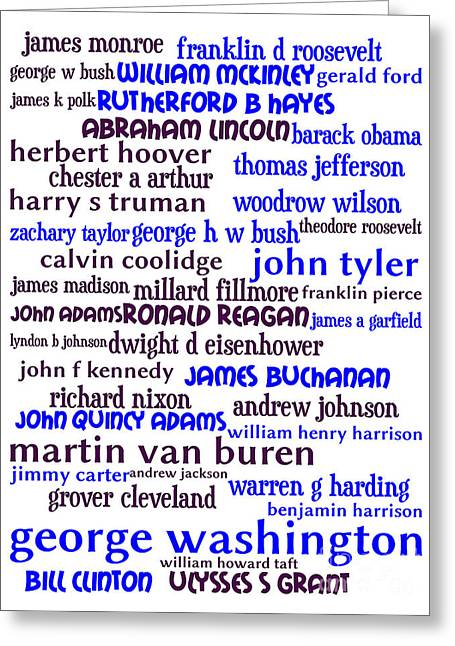 Presidents Of The United States 20130625whi Greeting Card by Wingsdomain Art and Photography