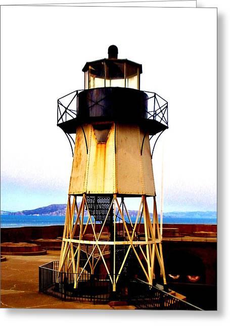 Presidio Lighthouse Greeting Card by Sharon Costa