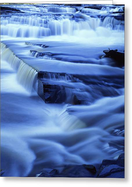 Presque Isle Falls Greeting Card by Ray Mathis