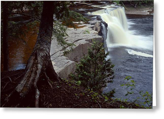 Presque Isle Falls Greeting Card by Tim Hawkins