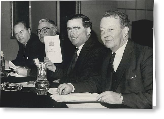Press Conference On Defence White Paper Greeting Card by Retro Images Archive