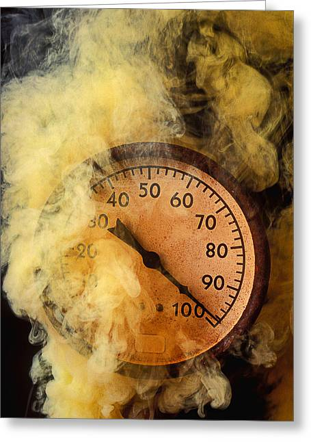 Pressure Gauge With Smoke Greeting Card