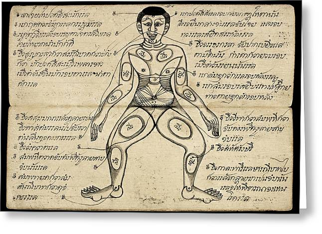 Pressure Points Greeting Card by British Library