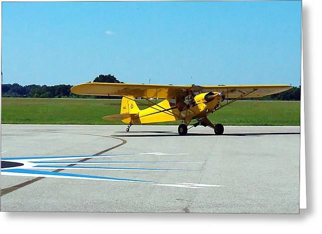 Preston Aviation Piper Cub  Greeting Card