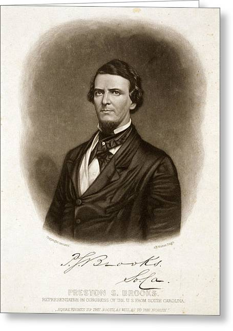 Preston Smith Brooks (1819-1857) Greeting Card by Granger