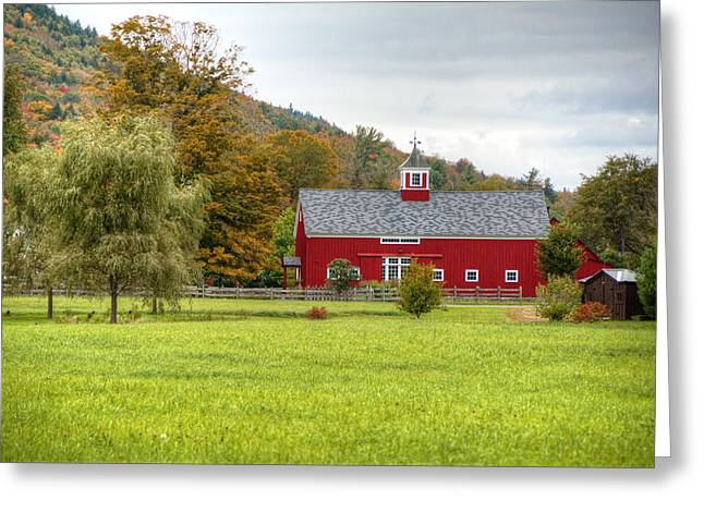 Prettiest Barn In Vermont Greeting Card