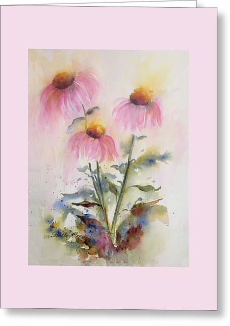 Pretty Coneflowers Greeting Card by Bette Orr