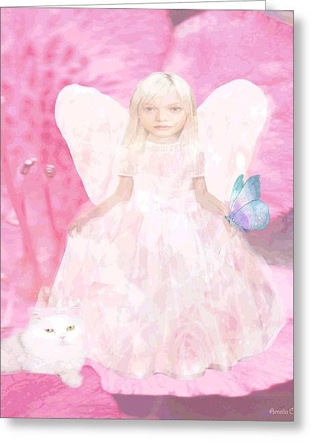 Pretty In Pink Greeting Card by Amelia Carrie