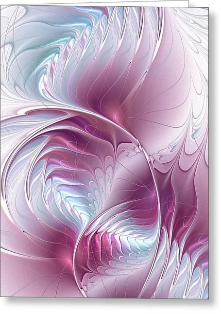 Pretty In Pink Greeting Card by Anastasiya Malakhova