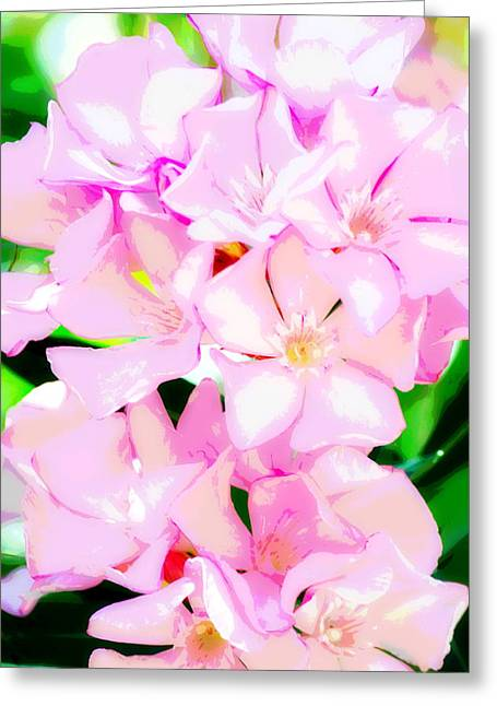 Pretty In Pink Greeting Card by Christina Ochsner