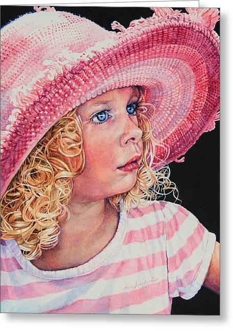 Pretty In Pink Greeting Card by Hanne Lore Koehler
