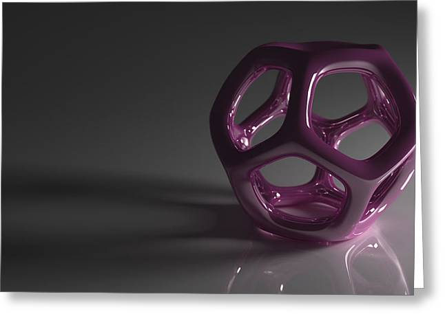 Pretty In Purple Greeting Card by Troy Harris