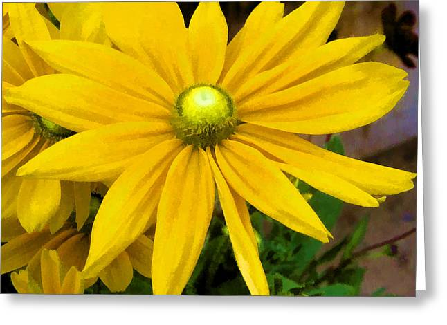 Greeting Card featuring the digital art Pretty In Yellow by Photographic Art by Russel Ray Photos