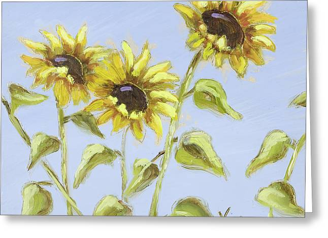 Greeting Card featuring the painting Pretty In Yellow by Vic  Mastis