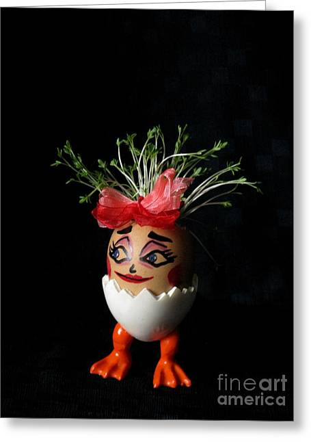 Pretty Lady Easter Eggmen Series  Greeting Card