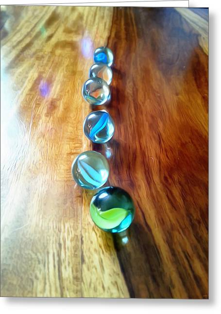 Pretty Marbles All In A Row Greeting Card