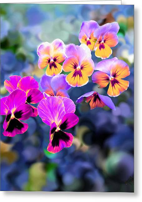 Pretty Pansies 3 Greeting Card by Bruce Nutting