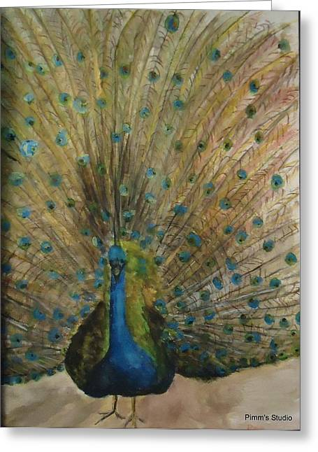 Pretty Plumage Greeting Card by Betty Pimm