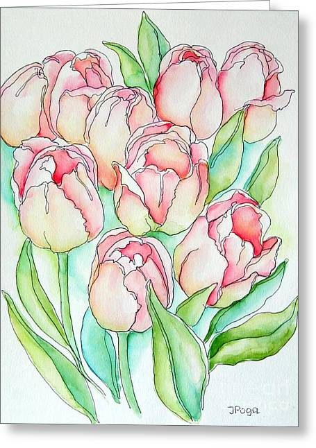 Pretty Tulips Greeting Card