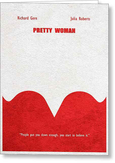 Pretty Woman Greeting Card by Ayse Deniz