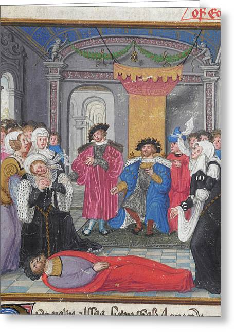 Priam And Court Mourn Hector Greeting Card by British Library