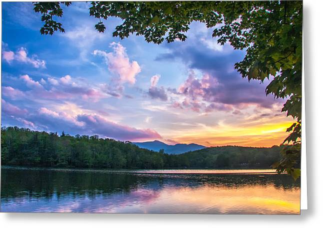 Price Lake Sunset Greeting Card