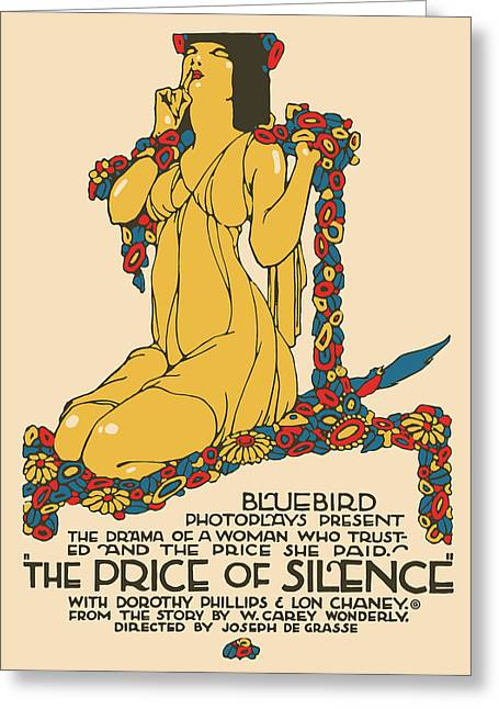 Price Of Silence Greeting Card by Gary Grayson