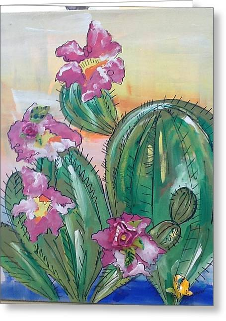 Prickly Pear Greeting Card by Karen Carnow