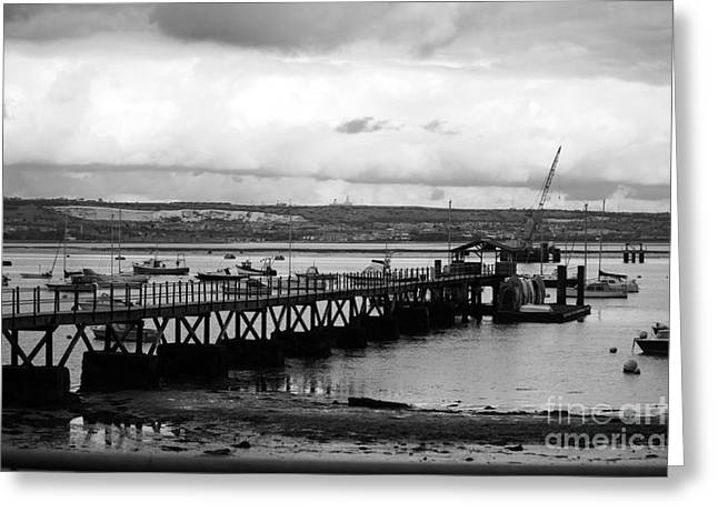 Priddy's Hard Jetty Greeting Card by Terri Waters