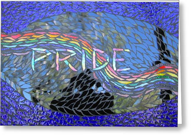 Pride Greeting Card by Alison Edwards