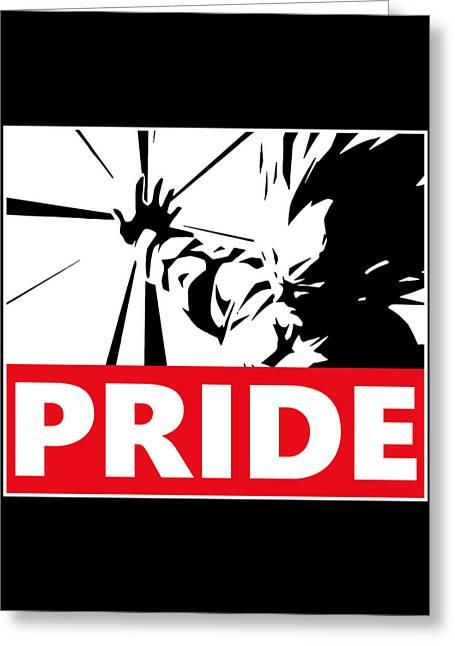 Pride Greeting Card by Danilo Caro
