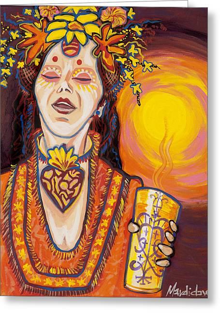 Priestess Greeting Card by Mardi Claw
