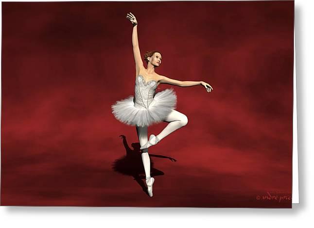 Prima Ballerina Kiko Pirouettes Pose Greeting Card by Andre Price