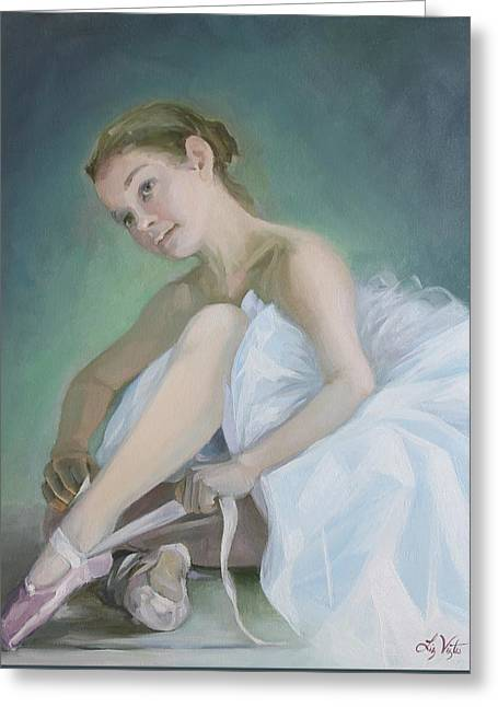 Prima Ballerina Greeting Card by Liz Viztes