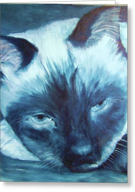 Prima Donna, Cat Greeting Card