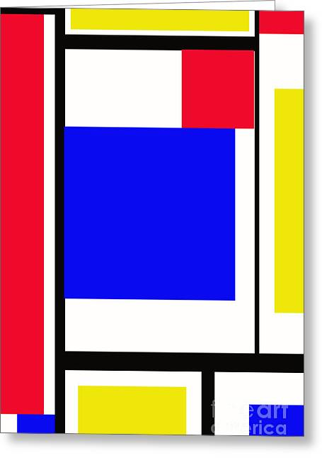 Primary Abstract Motivational Greeting Card by Tom Gari Gallery-Three-Photography